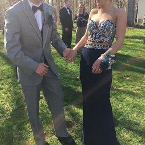 Faviana Glamour Navy Blue prom dress Size 00